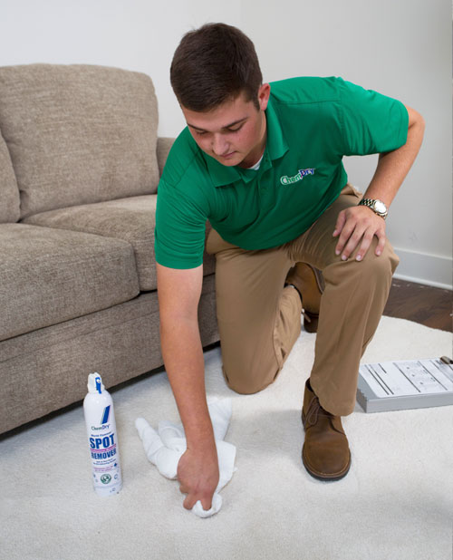 Specialty Stain Remover Saratoga Chem-Dry Technician in Saratoga Springs NY